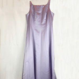 Michaelangelo Lavender Satin Formal Gown
